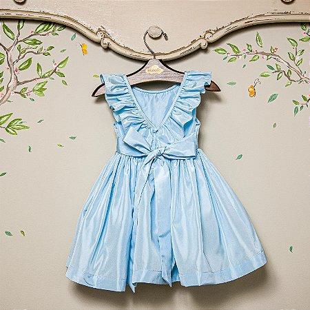 Vestido Festa bebe e infantil  Blue