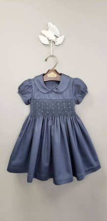 Vestido bordado Azul 400 fios