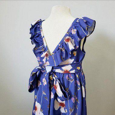 Vestido Babado floral