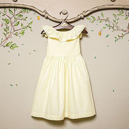 Vestido Infantil Babado Amarelo