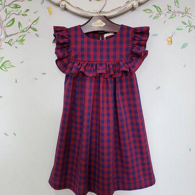 Vestido bebe e Infantil Xadrez Milão