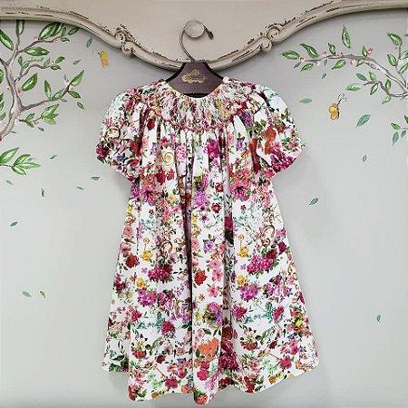 Vestido Bata Infantil Floral