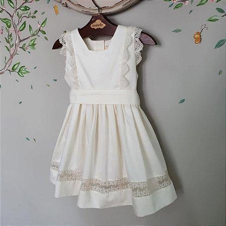 Vestido bebê  algodão 400 fios Perola