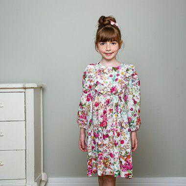 Vestido Infantil Manga 3/4 Siena estampa floral