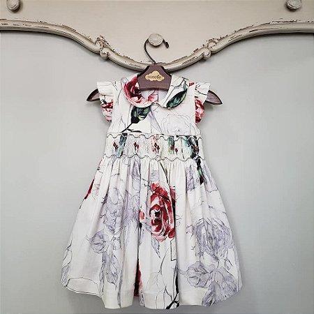 Vestido Bordado Bebê e Infantil Luxury Floral
