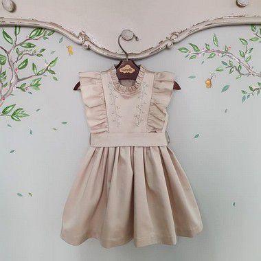 Vestido bordado rococo