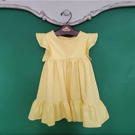 Vestido bebê e infantil amarelo Turin