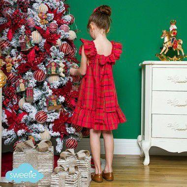 Vestido Infantil Bolonha Xadrez