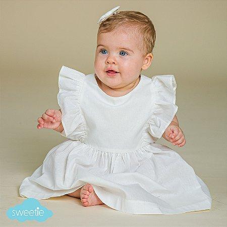 Vestido Bebê Capri Off White