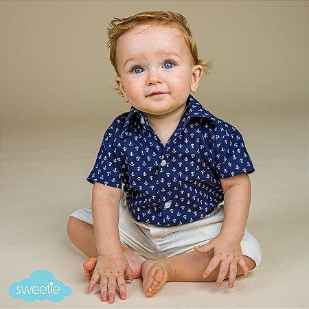 Camisa Body Bebê Âncoras