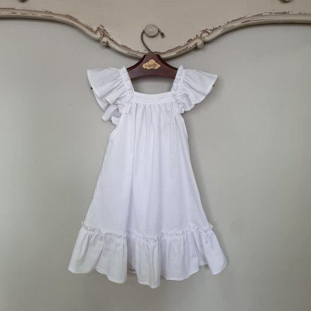 Vestido Bebê Bolonha Branco