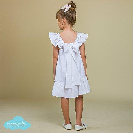 Vestido Infantil Bolonha Branco