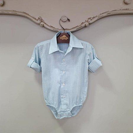 Camisa Body Bebê Azul ML