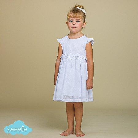 Vestido Infantil Nózinho Pipoca Branco