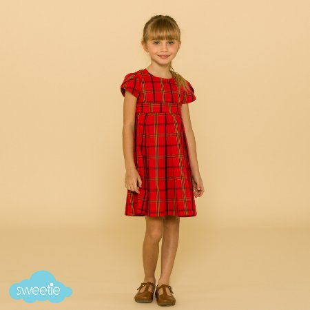Vestido Infantil Tulipa Xadrez