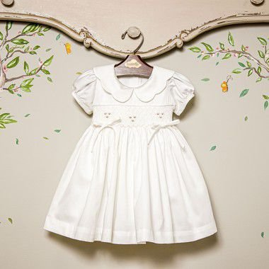 Vestido Bordado Bebê 400 fios Anne