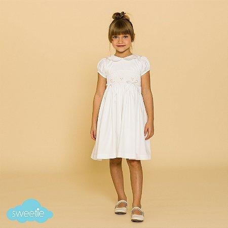 Vestido Bordado Infantil Anne Branco