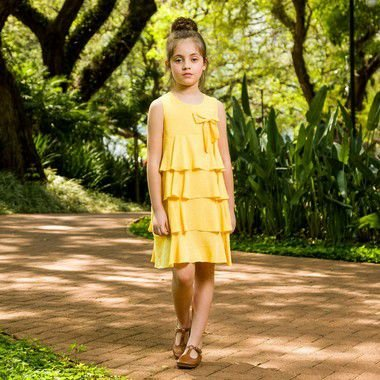 Vestido Infantil Modena Amarelo