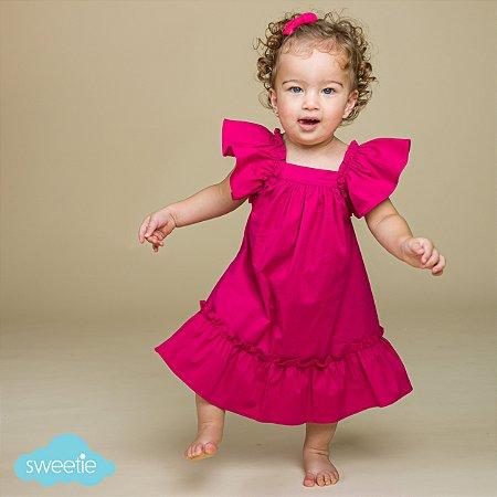 Vestido Bebê Bolonha Pink