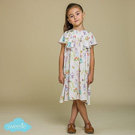 Vestido Infantil Margarida Bichinhos