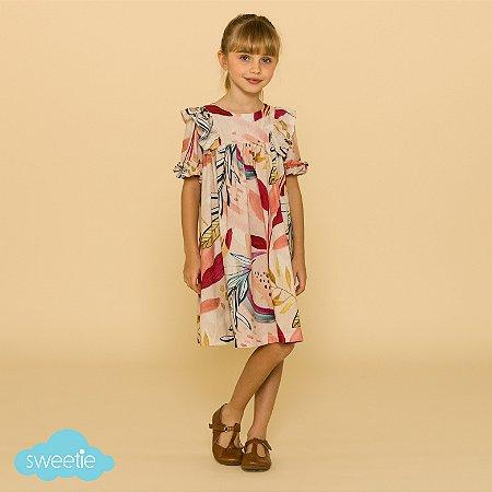 Vestido Infantil Flóra Amor Maior