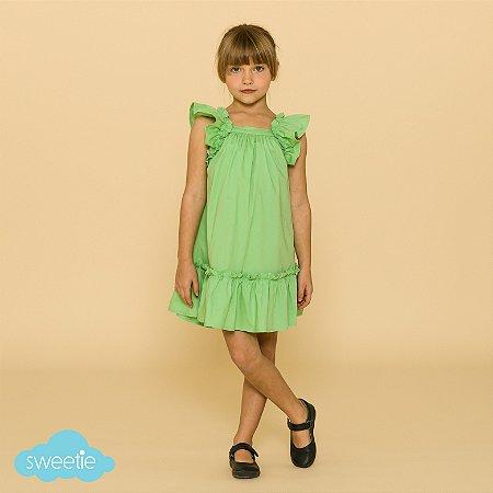Vestido Infantil Bolonha Verde Menta