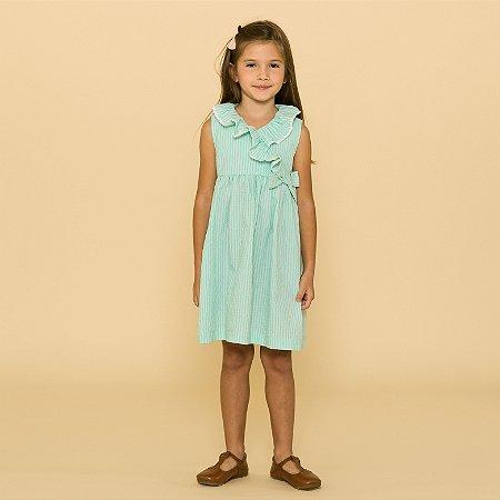 Vestido Infantil Amarilis Verde Piscina