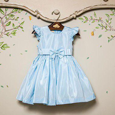 Vestido Bebê e Infantil Festa Laço Abinha