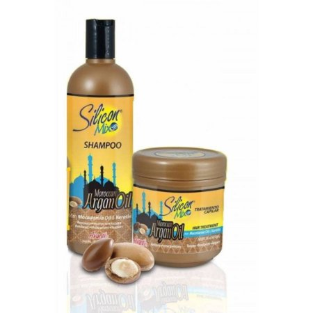 Silicom mix argan oil shampoo 473ml e máscara 450g
