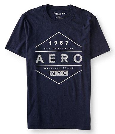 Camisa Aeropostale Aero Diamond Logo Graphic M