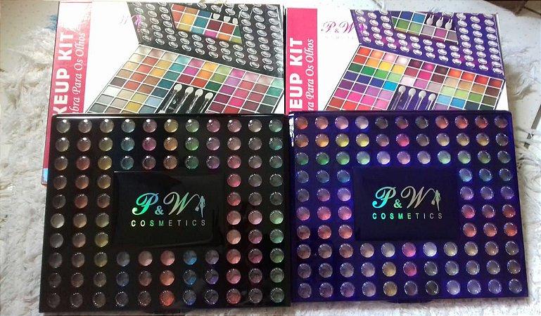 Paleta Profissional 98 Cores P&W Cosmetics