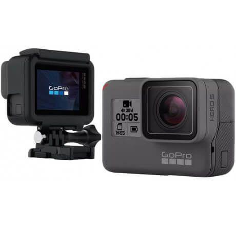 "Câmera Digital e Filmadora GoPro Hero5 Black - 12MP, Wi-Fi, Bluetooth, LCD 2.0"", À Prova d'água e Vídeo 4K"