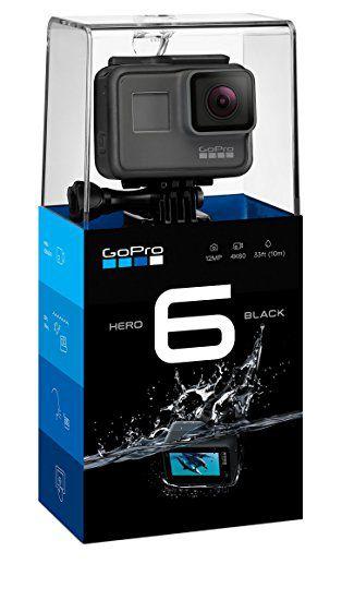 "Câmera Digital e Filmadora GoPro Hero 6 Black 12MP Vídeo 4K LCD 2.0"" Wi-Fi"