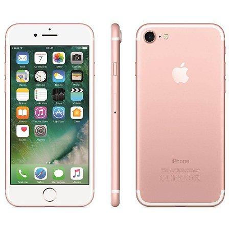 iPhone 7 Apple 32GB/128GB,/256GB com Tela Retina HD de 4,7, 3D Touch, iOS 10, Touch ID, Câmera 12MP, Resistente a Água e Sistema de Alto-Falantes Estéreo – Ouro Rosa
