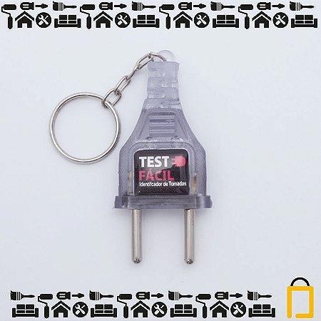 Teste Fácil - Identificador de voltagem e chaveiro