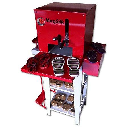 Kit Máquina de Fabricar Chinelo + Mesa de Gravação