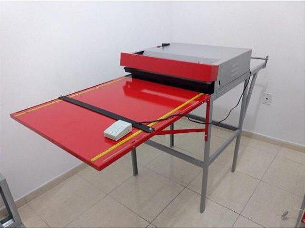 Máquina Semi Automática Novo Modelo + Prensa Hidráulica e Faca para corte das alças