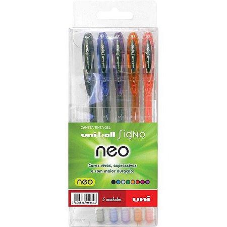 Conjunto UniBall Signo Neo 5 cores