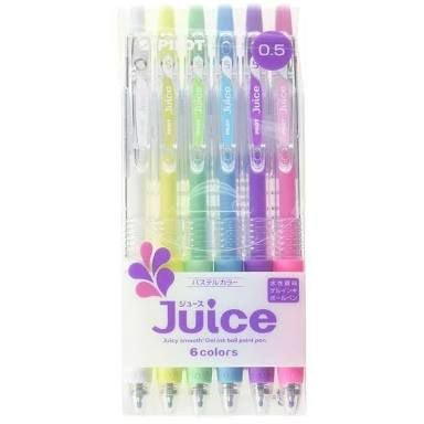 Pilot Juice pens 6 cores 0.5mm - Pastel