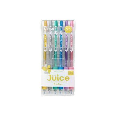 Pilot Juice Pens 6 cores - Metalico