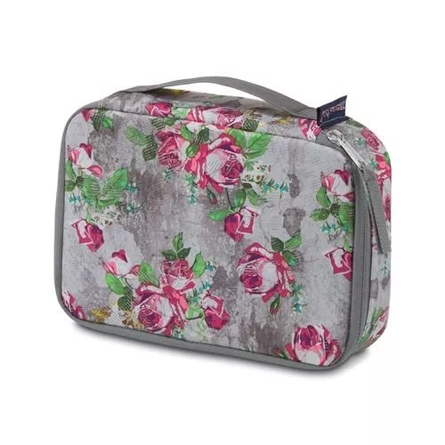 Estojo JanSport Bento Cinza Estampado