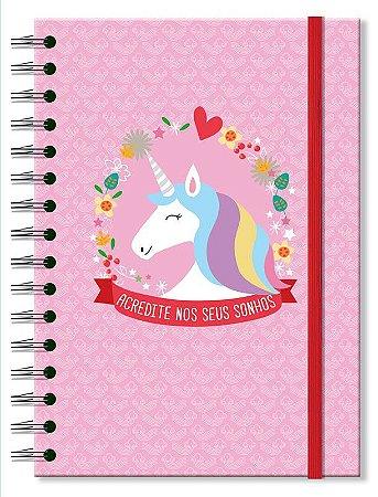 Caderno Clássico Fina Ideia Unicornio