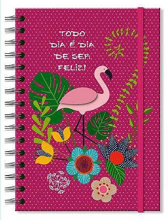 Caderno Clássico Fina Ideia Flamingo