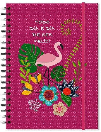 Caderno Universitario Fina Ideia Flamingo 100fls