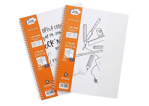 Caderno Whitelines A4