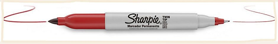 Marcador Sharpie Twin Tip