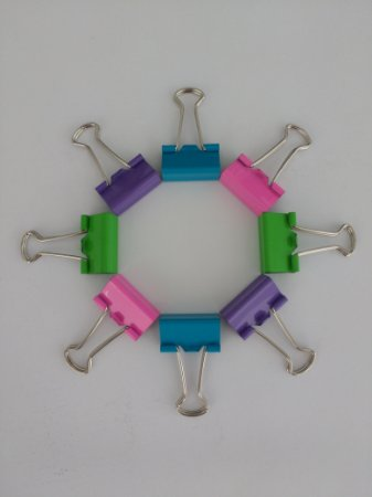 Kit Clips Binder Coloridos 19mm - 8 unid.