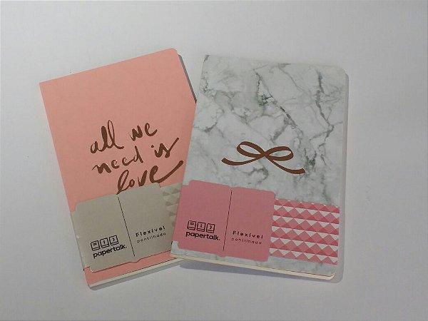 Caderneta Papertalk Otima Pink Stone