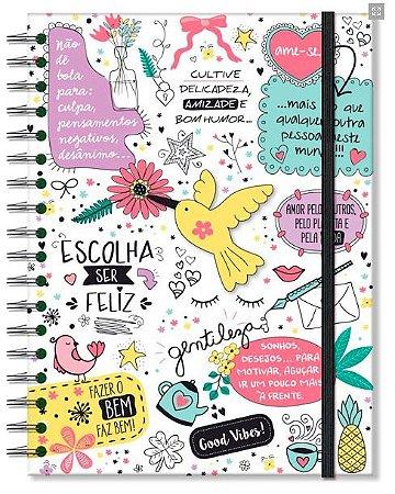 Caderno Colegial Fina Ideia Beija Flor