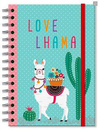 Caderno Pontilhado Fina Ideia Lhama